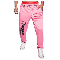 2015 New Winter Men's Letters Printed Men Joggers Loose Tether Home Fitness Pants Casual Men Jogger Pants M-XXL