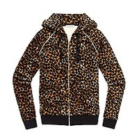Relaxed Jacket in Leopard Velour