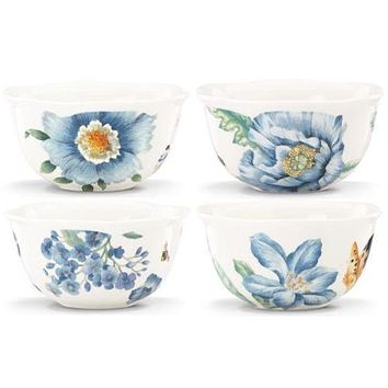 Lenox Butterfly Meadow Blue 4-Piece Dessert Bowl Set