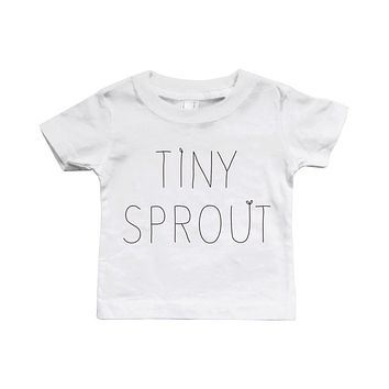 Graphic Snap-on Style Baby Tee, Infant Tee - Tiny Sprout