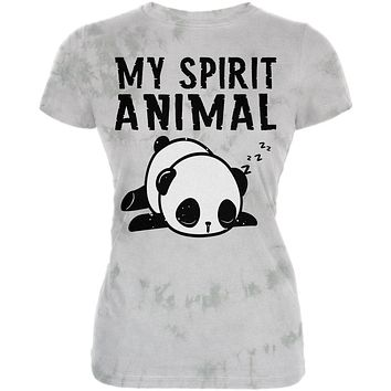 My Spirit Animal Tired Panda Cute Juniors Soft T Shirt