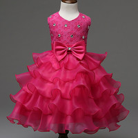 Kids Girl Dress Floral Baby Girls Dress Vestidos Wedding Party Clothes dresses For Wedding For 3-7 Years IMY66