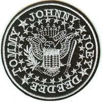 The Ramones Iron-On Patch Round Eagle Seal Logo