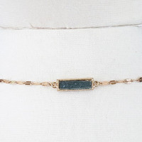 Druzy Accent Choker | Grey