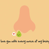 I Love You Card - Funny Love Cards - Valentine Card - Joke Love Card - Nose Card - Snot Card
