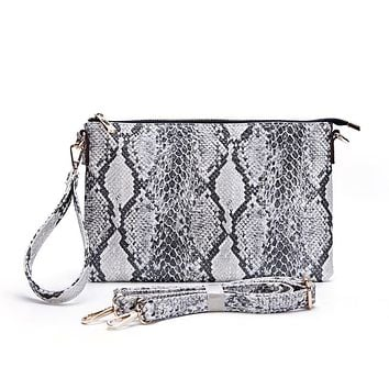 Only the Good Ivory Snakeskin Clutch
