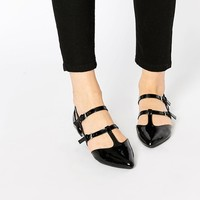 New Look | New Look Multi Strap Patent T Bar Point at ASOS