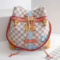 LV Women Fashion Crossbody Print Lock Metal Shoulder Bag Crossbody