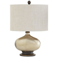 Gilded Oval Lamp