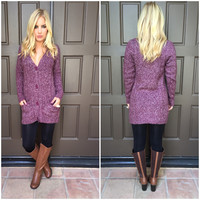 Mulberry Lane Knit Button Up Sweater