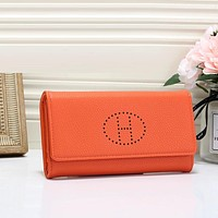 Hermes Fashion Leather Buckle Wallet Purse