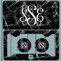 Marble License plate, License Plate-Monogram Car Tag Front License Plate Personalized Plate, Fancy script Vine Font