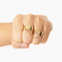 Double Crown Ring - Gold