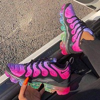 Nike Air Vapormax Plus Popular Woman Men Casual Running Sport Shoes Sneakers Rose Red