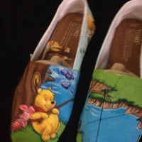 Hand Painted Winnie The Pooh TOMS