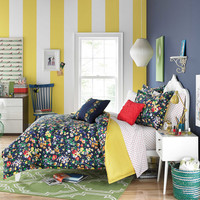 Teen Vogue® Folksy Floral Comforter Set in Navy