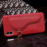 Dior Tide brand iPhone7plus mobile phone case cover Red