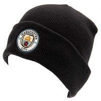 Manchester City FC Turn Up Navy Knit Hat