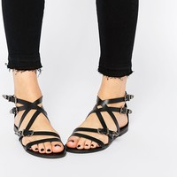 ASOS FINSBURY Leather Western Sandals