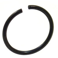 """Annealed(Bendable) Basic Black PVD/Stainless Steel Nose Ring Hoop - 20G 5/16"""""""