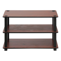 Dark Cherry Three-Shelf Shoe Rack