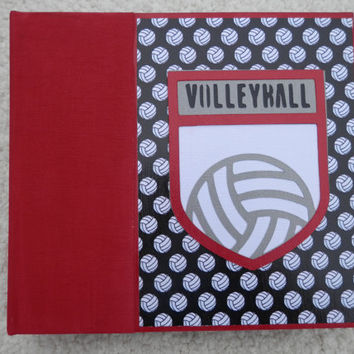 6x6 Red and Black Volleyball Scrapbook Photo Album