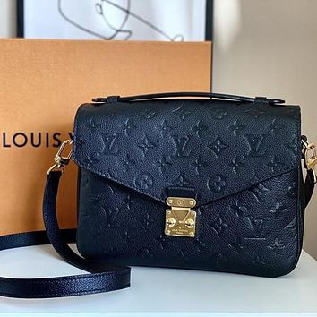 Louis Vuitton LV Women Leather Crossbody Satchel Classic Retro Presbyopia Clutch Bag Shoulder Bag