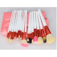 Leegoal 20pcs White Professional Cosmetic Makeup Make up Brush Brushes Set Kit With Pink Bag Case