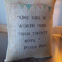 Peter Pan pillow new baby gift baby room decor