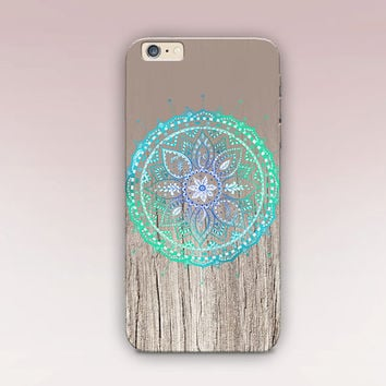 Mandala Wood Phone Case For - iPhone 6 Case - iPhone 5 Case - iPhone 4 Case - Samsung S4 Case - iPhone 5C - Matte Case - Tough Case