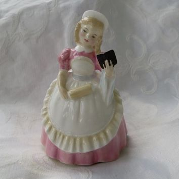 Royal Doulton Cookie Figurine Little Girl Baking Figurine Royal Doulton Collectibles