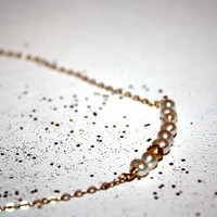 aria - pearl necklace by lilla stjarna - 14k gold - gifts under 50 - freshwater pearl necklace - minimalist - bridal - everyday