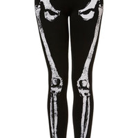 Skeleton Embellished Leggings