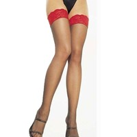 Women's thigh high stockings O2014 red lace hosiery