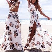 Party Long Maxi Simple Sleeveless Dress Sundress Casual Style Women's Ladies Boho Summer Beach