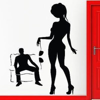 Wall Stickers Vinyl Decal Hot Sexy Naked Girl Woman Lingerie Striptease Unique Gift (z1001)