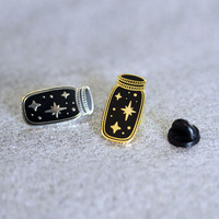 Jar full of Stars - Hard Enamel Pin - Gold or Silver - Pins - Brooch