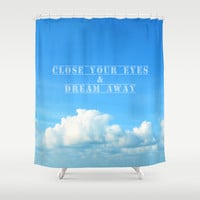 close your eyes Shower Curtain by Steffi ~ findsFUNDSTUECKE
