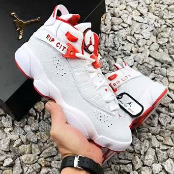 AIR JORDAN 6 New fashion couple running sneakers shoes White