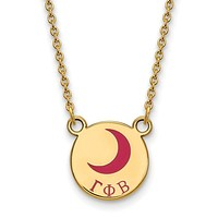14K Plated Silver Gamma Phi Beta Small Enamel Necklace