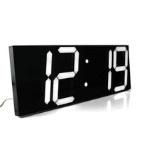 Large Digital Wall Clock Modern Design Display 12 24 Hours Calendar Temperature Alarms In The Living Room Fashion Home Decor