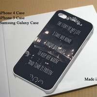 One Direction Story Lyric Best Seller Phone Case on Etsy for iPhone 4, iPhone 4s, iPhone 5 , Samsung Galaxy s3 and Samsung Galaxy s4