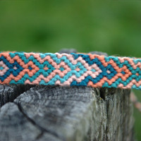 A Sea Love (Peach & Aqua) Friendship Bracelet