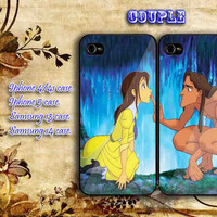 iphone 4/4s case Tarzan and jane couple iphone 5 case, iphone case, samsung s3 i9300, samsung s4 i9500, cover plastic, accesories