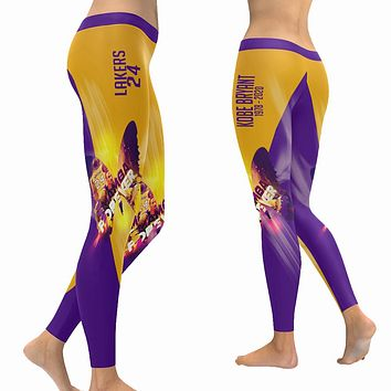 Kobe Bryant Leggings|Butterfly Mamba Forever Tights|Lakers 24 Yoga Pants