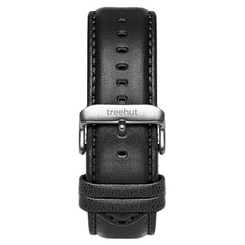 20mm Black Padded Leather Band