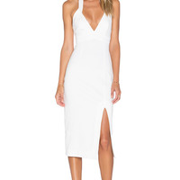 n / nicholas Ponti Diamond Cut Out Dress in White