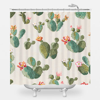 Insufferable Succulents Shower Curtain