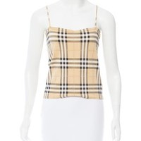 Sleeveless Nova Check Top