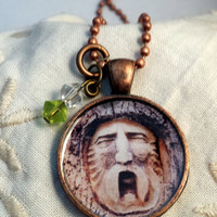 Face in the Tree Pendant